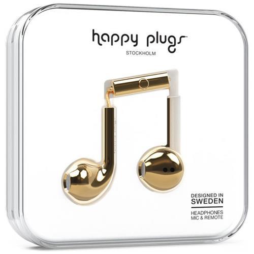 HAPPY PLUGS Auricolare Stereofonico con Cavo HP-7821 Colore Oro