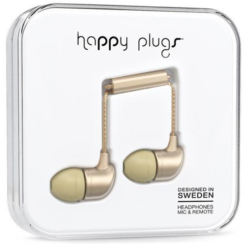 HAPPY PLUGS Auricolari In-Ear con Microfono Cablato HP-7832 Colore Champagne