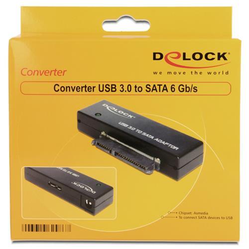 DeLOCK 62486 USB3.0 SATA III Nero cavo di interfaccia e adattatore