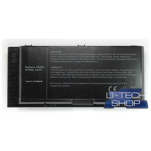 LI-TECH Batteria Notebook compatibile 5200mAh per DELL R7PND 6 celle pila 57Wh