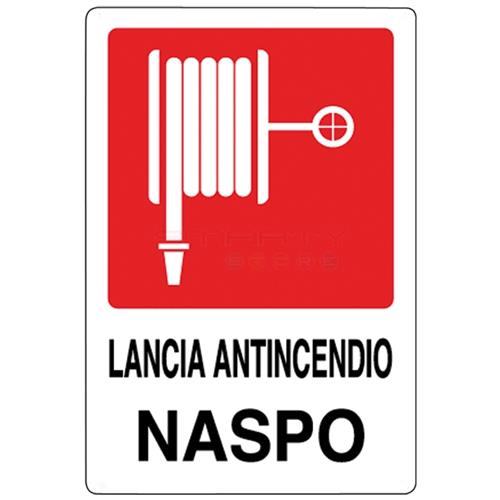 takestop Cartello Lancia Antincendio Naspo 20x30 Cm Segnaletica Direzionale Sicurezza Avvertimento 012
