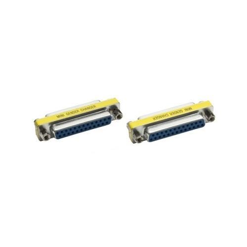 INLINE 31124 D-Sub, 25-pin D-Sub, 25-pin Giallo cavo di interfaccia e adattatore