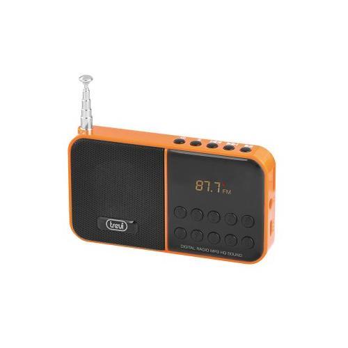TREVI Radio Mp3 Fm 40staz. Micro Sd Dr 740 Sd Arancione
