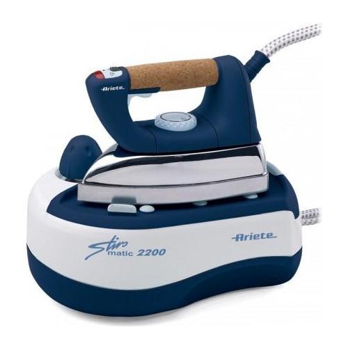 ARIETE 2200 Stiromatic Ferro da Stiro con Caldaia Potenza 2000 W Colore Bianco e Blu