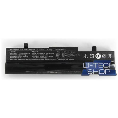 LI-TECH Batteria Notebook compatibile 5200mAh nero per ASUS EEEPC EEE PC EEPC 1101HABLK021M 5.2Ah