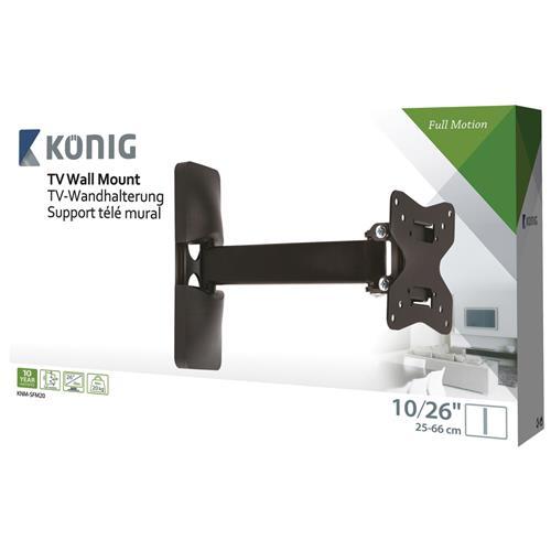 KONIG König KNM-SFM20, 50 x 50,75 x 75,100 x 100 mm, Nero, 0 - 15°, Metallo, Scatola