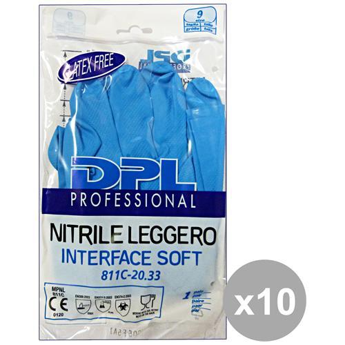 DPL Professional Set 10 Guanti Piatti Nitrile Anallergici Xl Gi
