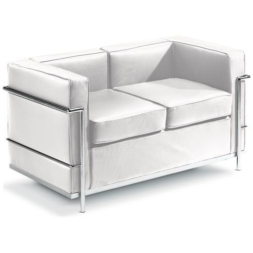 La Seggiola Cube Sofa 2s-ecopelle Nero Sedute Comode, Confortevoli Di Design