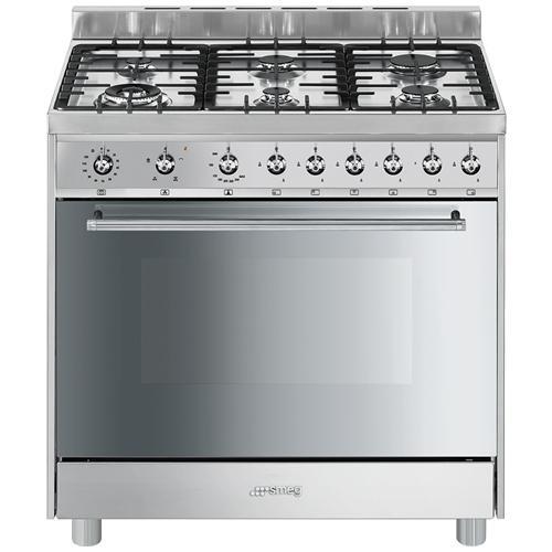 SMEG - Cucina A 6 Fuochi Gas C9GVXI9 Forno A Gas Ventilato Classe ...