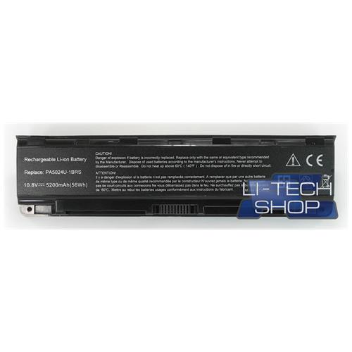 LI-TECH Batteria Notebook compatibile 5200mAh per TOSHIBA SATELLITE SL L85517R SL85517R pila 57Wh