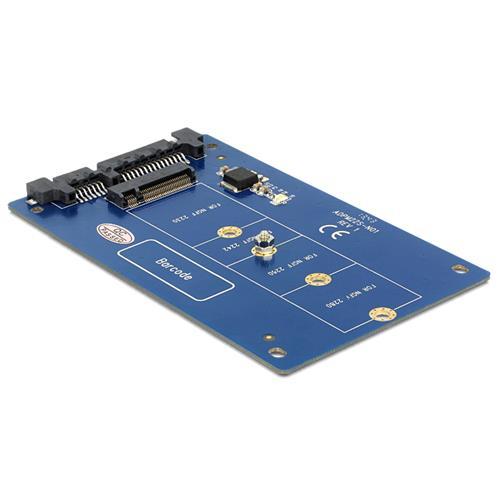 DeLOCK 62559 SATA M. 2 NGFF Blu cavo di interfaccia e adattatore