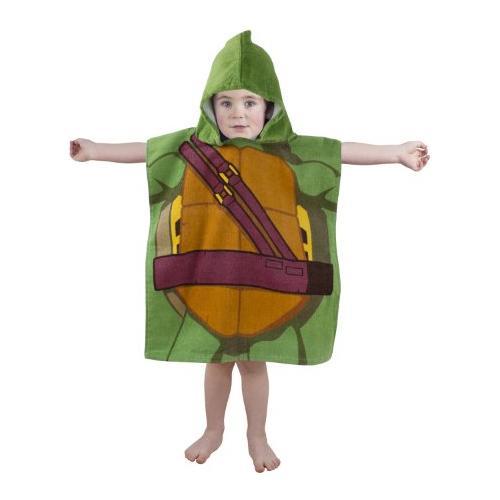 CHARACTER WORLD Asciugamano Telo Mare Tartarughe Teenage Mutant Ninja Turtles Towel (hooded Poncho) Dudes 115 X 50 Cm