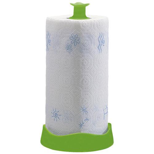 HOMEGARDEN Portarotolo in plastica con base fermarotolo cm D 28xH 14 colori assortiti