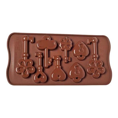 Silikomart Stampo cioccolato keys easy choc 35x30mm h. 16mm 112.5ml silicone
