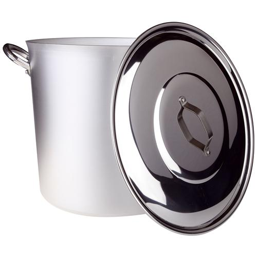 AGNELLI Pentola Piccola Comunita' Maniglie E Ponticello Alluminio (compreso Coperchio) - Diametro Cm 32 - Altezza Cm 30-capacità Lt 24