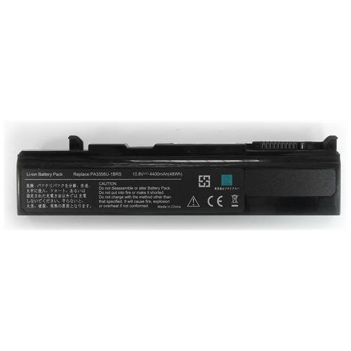 LI-TECH Batteria Notebook compatibile per TOSHIBA TECRA M5-127 6 celle 4400mAh nero 48Wh