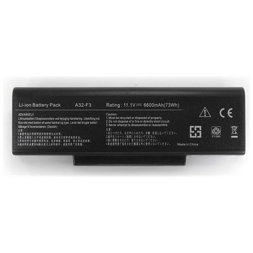 LI-TECH Batteria Notebook compatibile 9 celle per ASUS N73SVV1GTY229V 10.8V 11.1V nero pila 6.6Ah