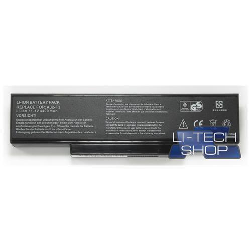 LI-TECH Batteria Notebook compatibile per ASUS F3SV-AK039E 6 celle 4400mAh nero 4.4Ah