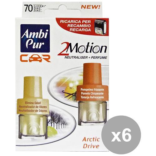 Ambi-Pur Set 6 Auto 2motion Ricarica Misto Deodorante Accessori Auto E Moto