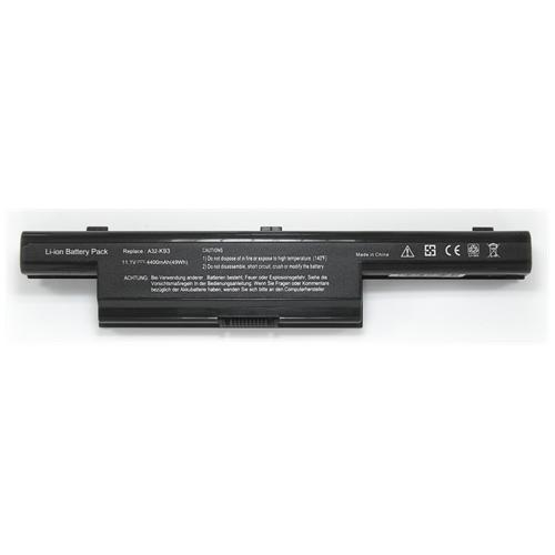 LI-TECH Batteria Notebook compatibile per ASUS K93SV-YZ081V 6 celle 4400mAh nero 48Wh