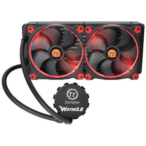 THERMALTAKE Dissipatore CPU a Liquido Water 3.0 Riing Red 280 per Socket Intel LGA 2011-3/2011/1366/1156/1155/1151/1150 e Socket AMD AM4 / FM2 / FM1 / AM3+ / AM3 / AM2+ / AM2