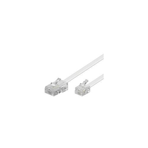 Wentronic 3m RJ-11 / RJ-45 Cable, RJ-45, RJ-11, Maschio / maschio, Bianco, 3m