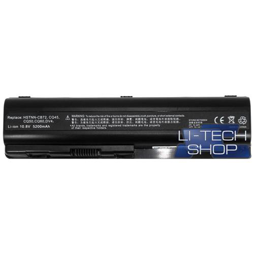 LI-TECH Batteria Notebook compatibile 5200mAh per HP COMPAQ PRESARIO CQ61415EM 6 celle nero