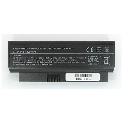 LI-TECH Batteria Notebook compatibile per HP COMPAQ 530974-25I nero pila