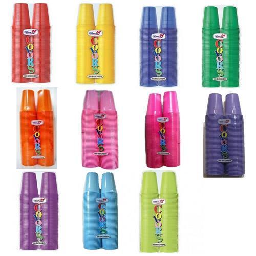 DOpla 100 Bicchieri Plastica Colorata 200 Cc - Rosa
