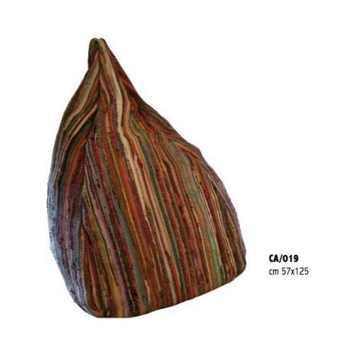 Stones Sacco Fatto A Mano Mod. Bean Bag 3 Multicolor In Cotone