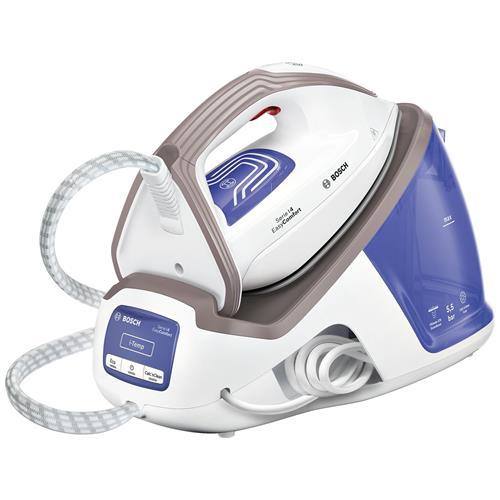 BOSCH Ferro da Stiro con Caldaia Continua EasyComfort TDS4040 Potenza 2400 W Colore Blu e Bianco