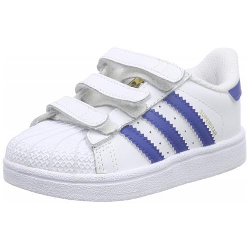 Adidas Superstar Foundation Cf I Scarpe Bambino Bianche Pelle Strappi S74946 22
