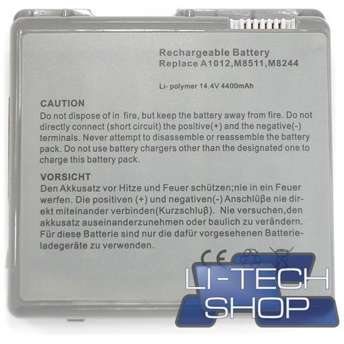 LI-TECH Batteria Notebook compatibile per APPLE POWERBOOK G4 15.2 POLLICI 2002 TITANIUM M8591T-A