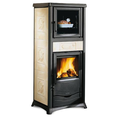 La nordica stufa a legna rossella plus forno rivestimento in maiolica potenza termica nominale - Stufa a legna nordica usata ...