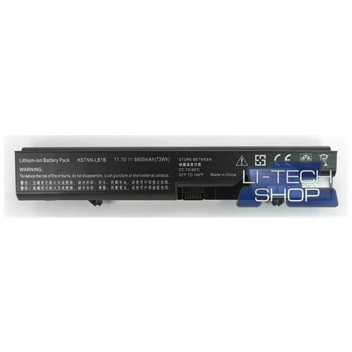 LI-TECH Batteria Notebook compatibile 9 celle per HP COMPAQ HSTNN-W79C-S 6600mAh nero 73Wh