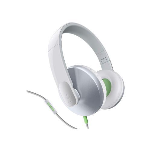 BELKIN G2H2000CWWHT, Stereofonico, Bianco, Padiglione auricolare, Cablato, 5 cm