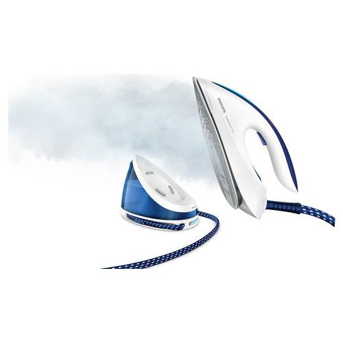 PHILIPS GC7039/20 Ferro da Stiro con Generatore di Vapore Potenza 2400 W Colore Blu e Bianco