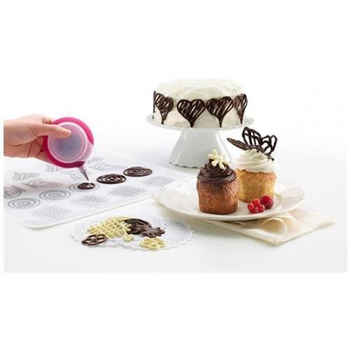 Lekué Kit Decomat Lekuè Pompetta E Accessori Per Decorare Torte Dolci, Penna Decopen