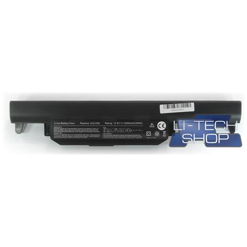 LI-TECH Batteria Notebook compatibile 5200mAh per ASUS A95VM-YZ033V 10.8V 11.1V 5.2Ah