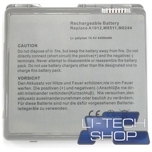 LI-TECH Batteria Notebook compatibile per APPLE POWERBOOK G4 15.2 POLLICI 2002 TITANIUM M8591