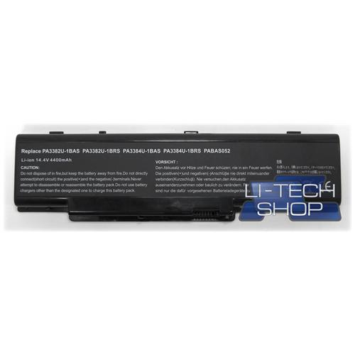 LI-TECH Batteria Notebook compatibile per TOSHIBA SATELLITE PRO A60683 SA60683 8 celle nero 4.4Ah