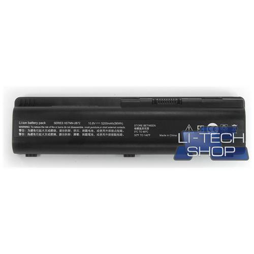 LI-TECH Batteria Notebook compatibile 5200mAh per HP COMPAQ 484170-001 nero