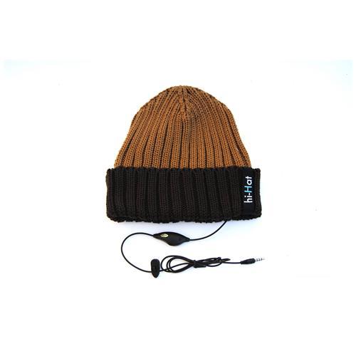 HI-FUN Berretto Hi-Hat con Risvolto Colore Marrone Scuro / Marrone Chiaro