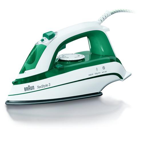 BRAUN BRATS345 Ferro a Vapore Potenza 2000 Watt Colore Bianco / Verde