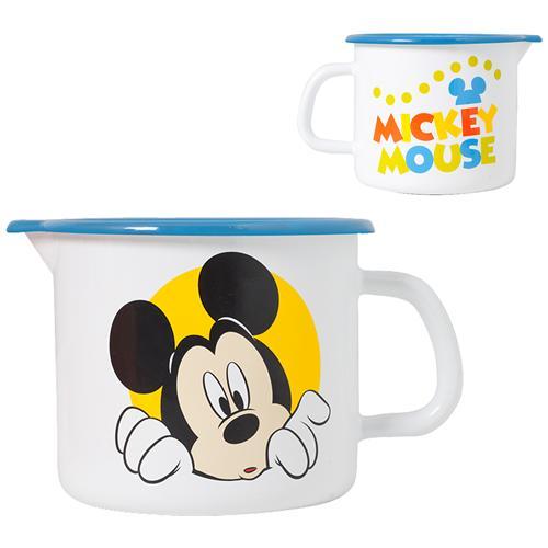 HOME Set 6 Pignatti Smalto Mickey New Cm12 Pentole Cucina