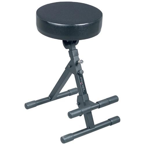 PROEL KGST10 Sgabello dal design innovativo realizzato in acciaio tubolare resistente sedile inclinabile in gomma rinforzo in metallo e poggiapiedi antiscivolo regolabile in altezza