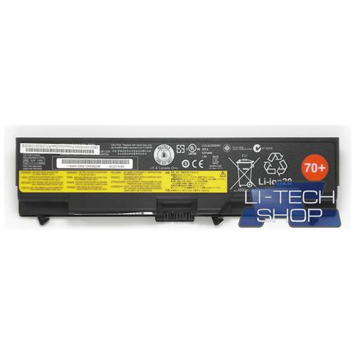 LI-TECH Batteria Notebook compatibile 5200mAh per IBM LENOVO THINKPAD L512-25506NU nero pila 57Wh