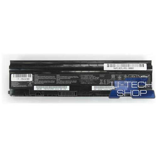 LI-TECH Batteria Notebook compatibile 5200mAh per ASUS EEEPC EEE PC EEPC 1025CEPUR014S nero 5.2Ah