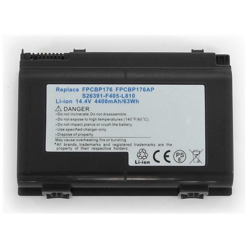 LI-TECH Batteria Notebook compatibile per FUJITSU FPCBPI76AP nero pila 64Wh 4.4Ah