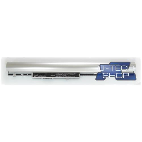 LI-TECH Batteria Notebook compatibile SILVER ARGENTO per HP PAVILION SLEEK BOOK 15-R018SL 4 celle